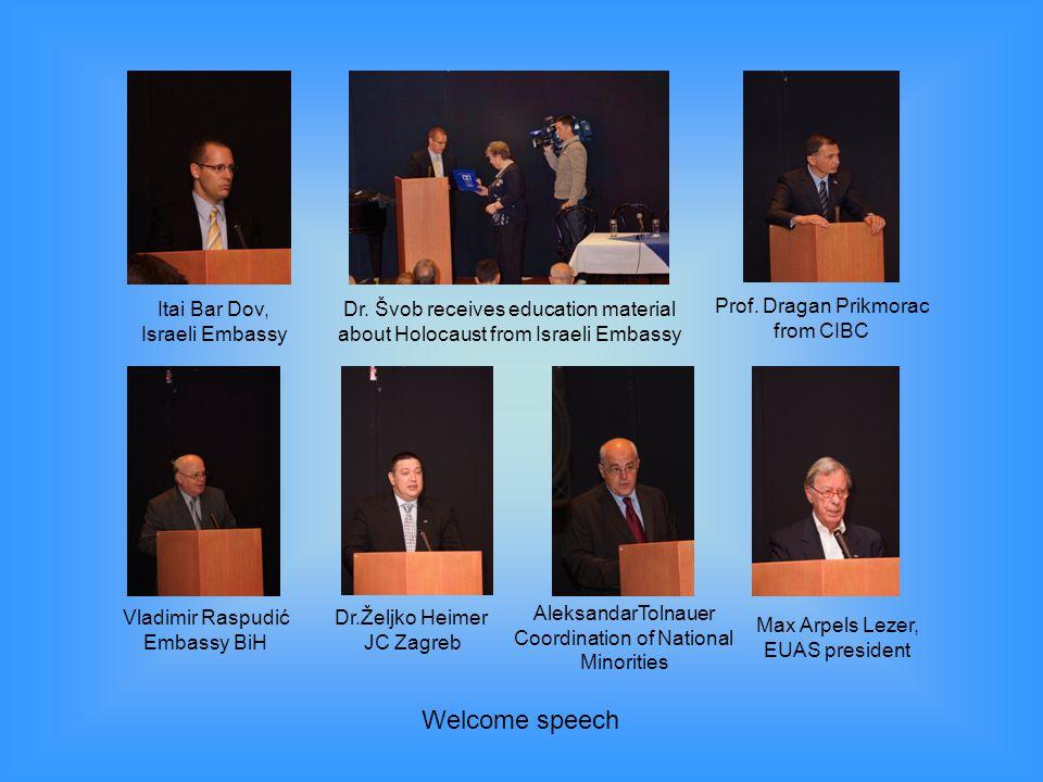 Welcome speech Itai Bar Dov, Israeli Embassy