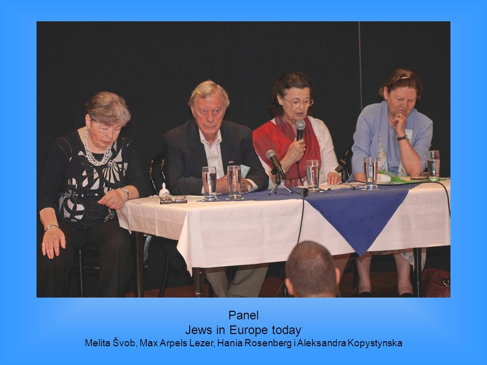 Panel Jews in Europe today