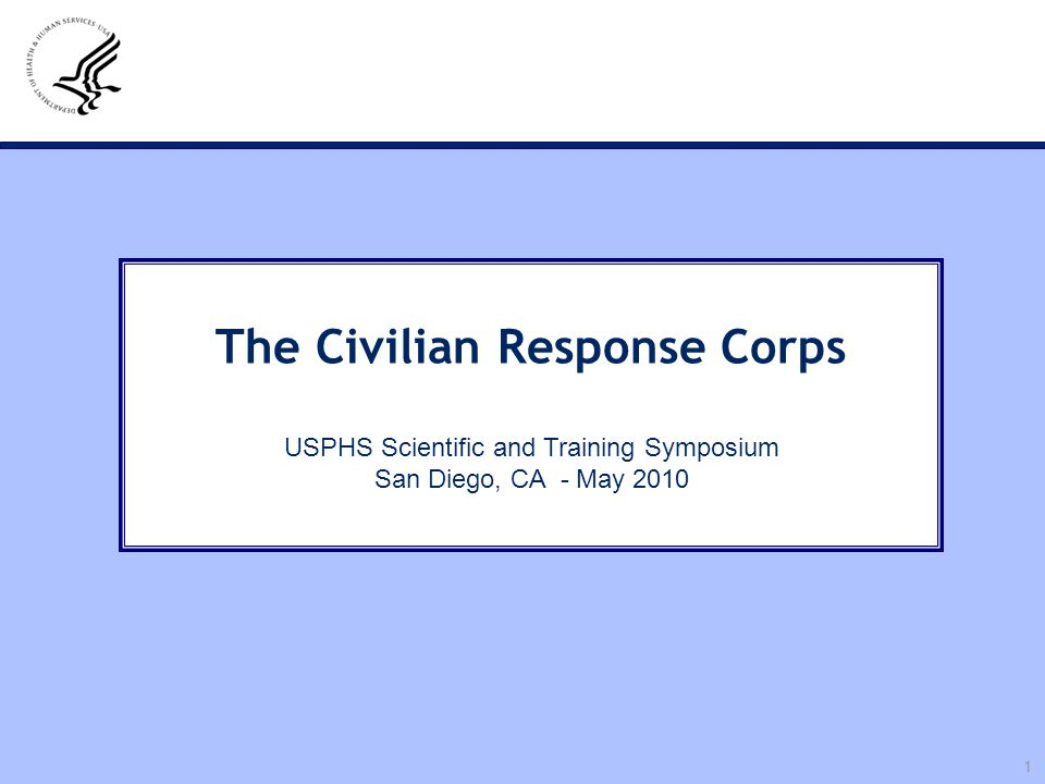 The Civilian Response Corps