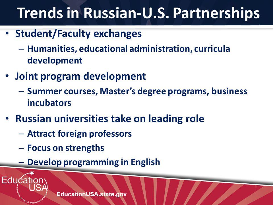 Trends in Russian-U.S. Partnerships