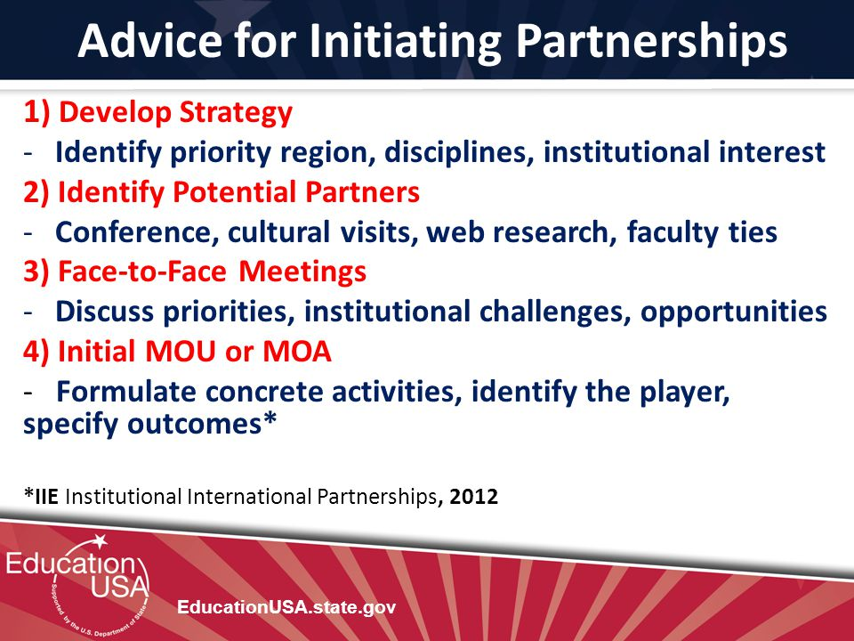 Advice for Initiating Partnerships