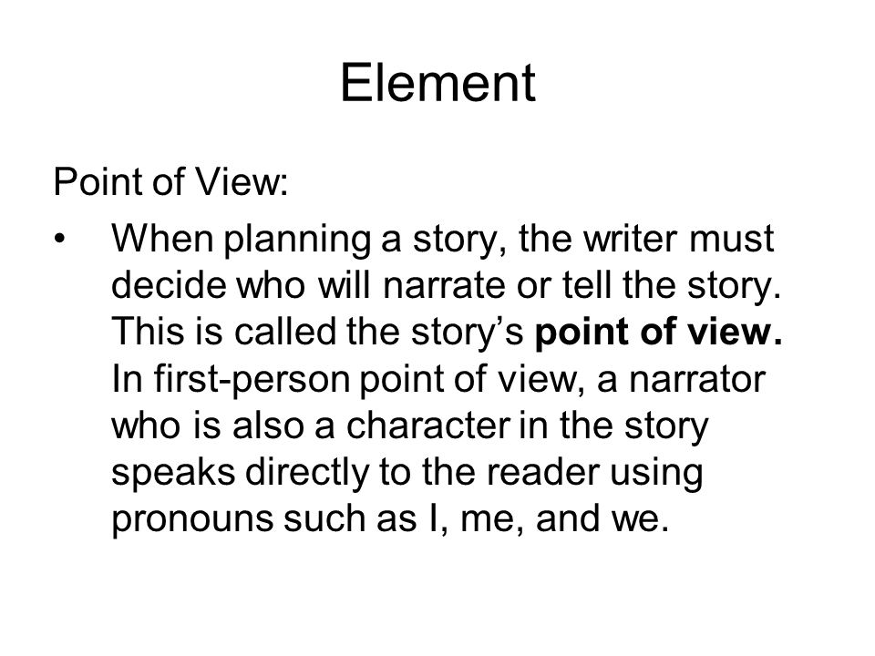 Element Point of View: