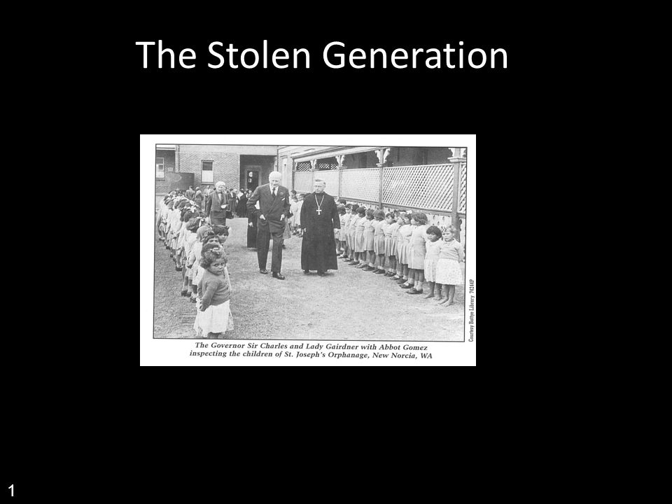 stolen generation 1 Encourage class discussion and the expression of their feelings about the stolen generations curriculum links: experiences of australian democracy and citizenship, including the status and rights of aboriginal and torres strait islander peoples, migrants, women, and children (achhk114).