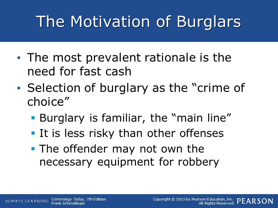 The Motivation of Burglars