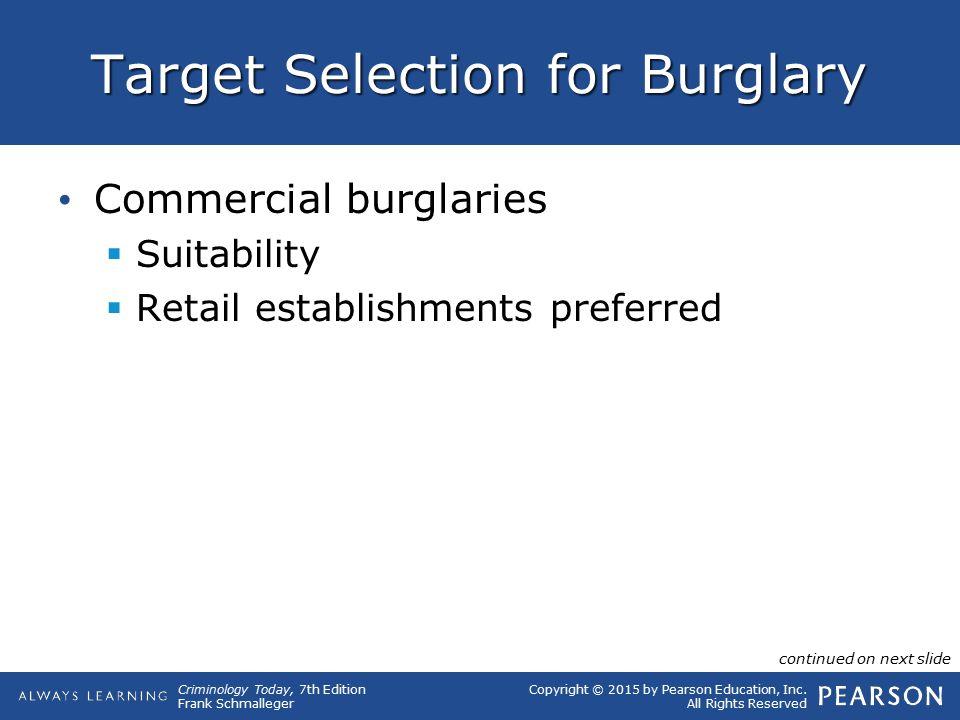 Target Selection for Burglary