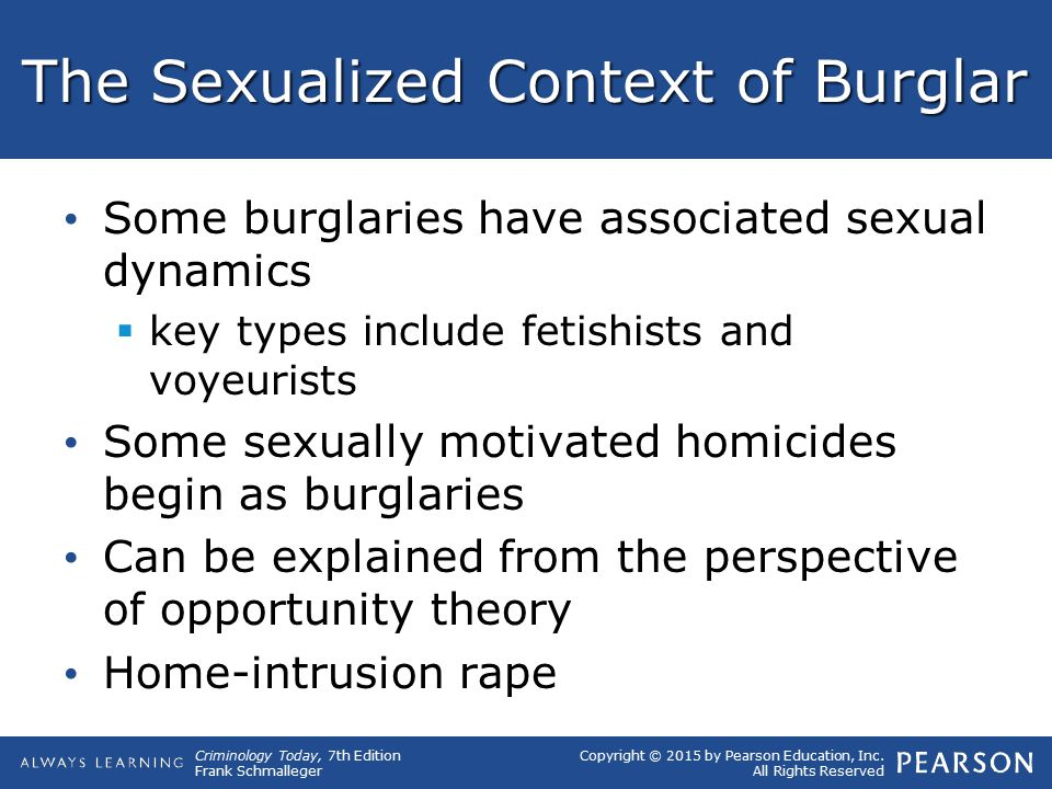 The Sexualized Context of Burglar