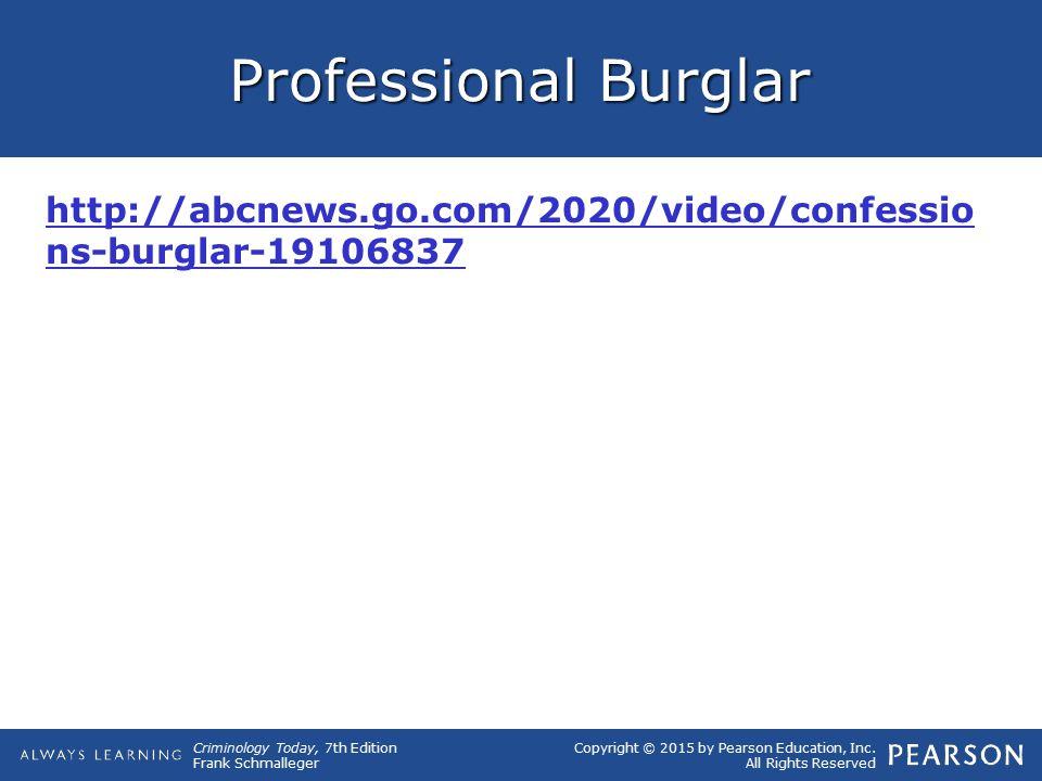 Professional Burglar http://abcnews.go.com/2020/video/confessions-burglar-19106837