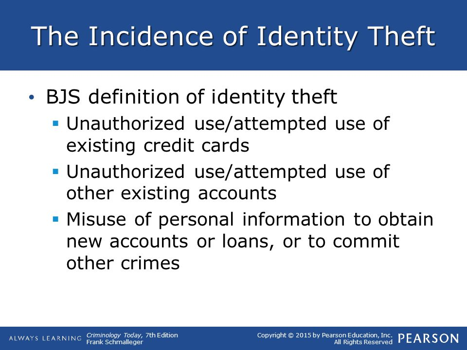 The Incidence of Identity Theft