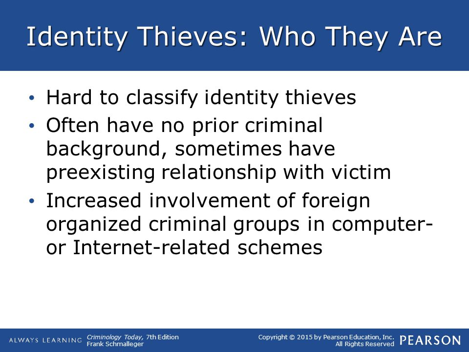 Identity Thieves: Who They Are