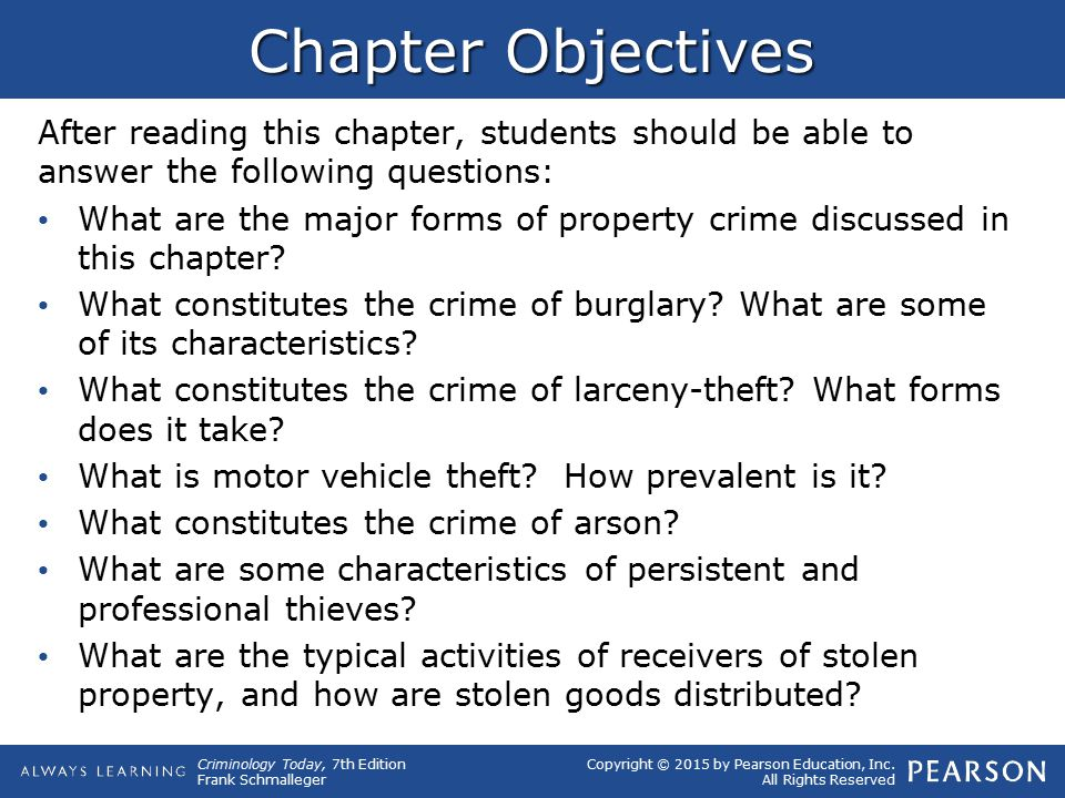 Chapter Objectives After reading this chapter, students should be able to answer the following questions: