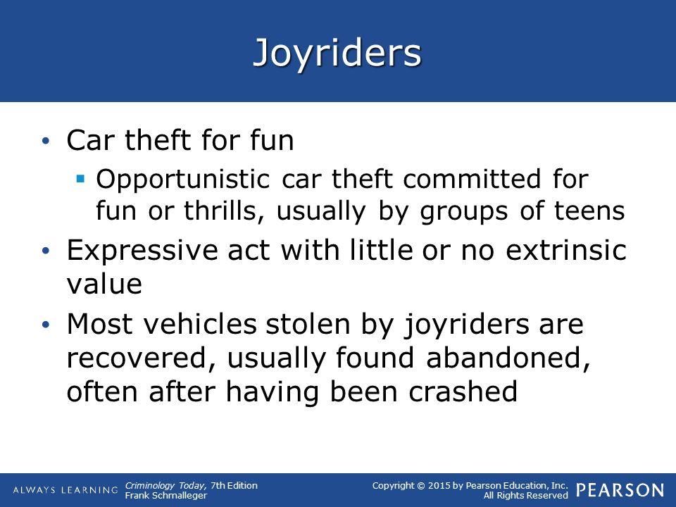 Joyriders Car theft for fun