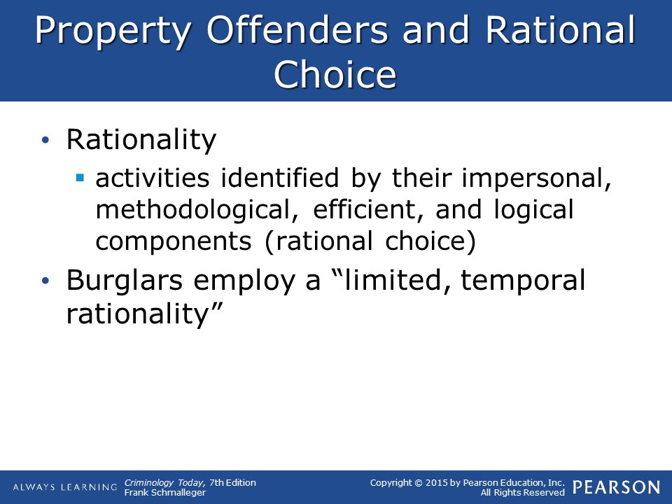 Property Offenders and Rational Choice