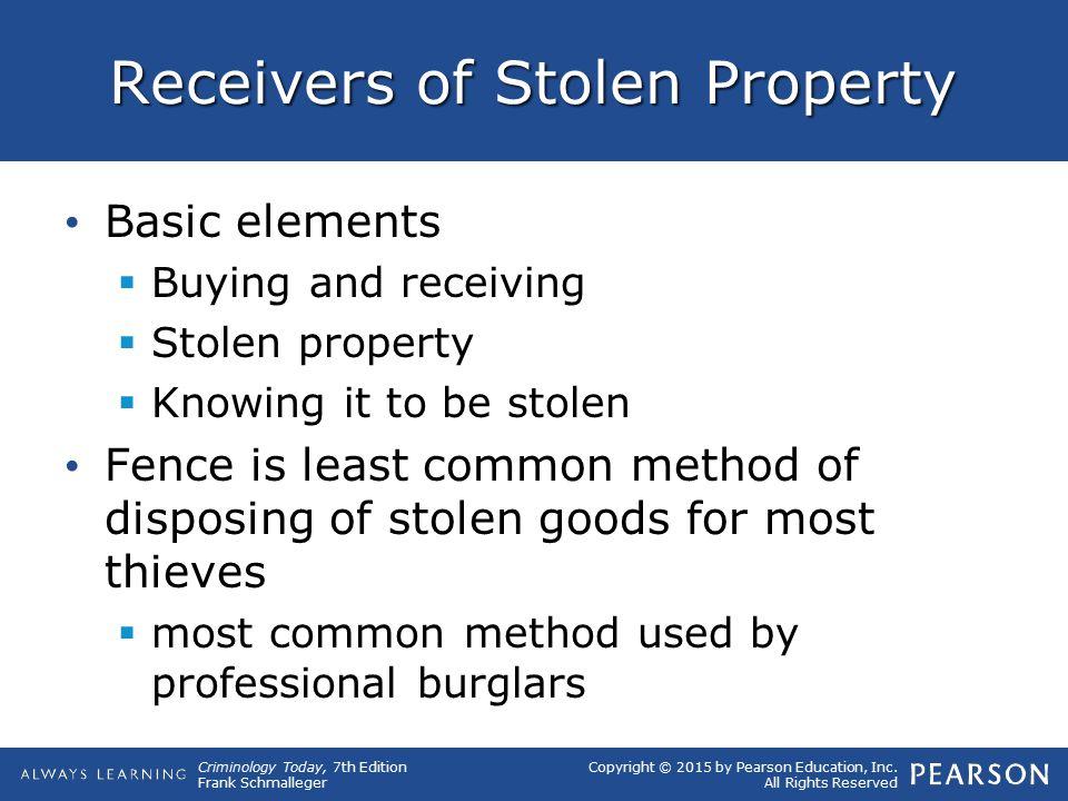 Receivers of Stolen Property