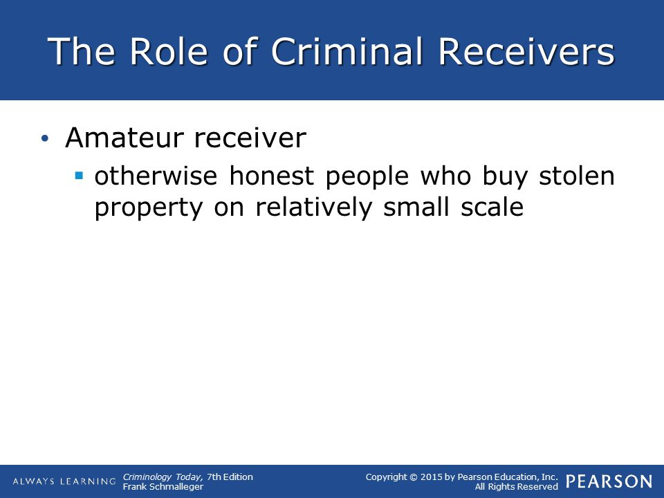 The Role of Criminal Receivers