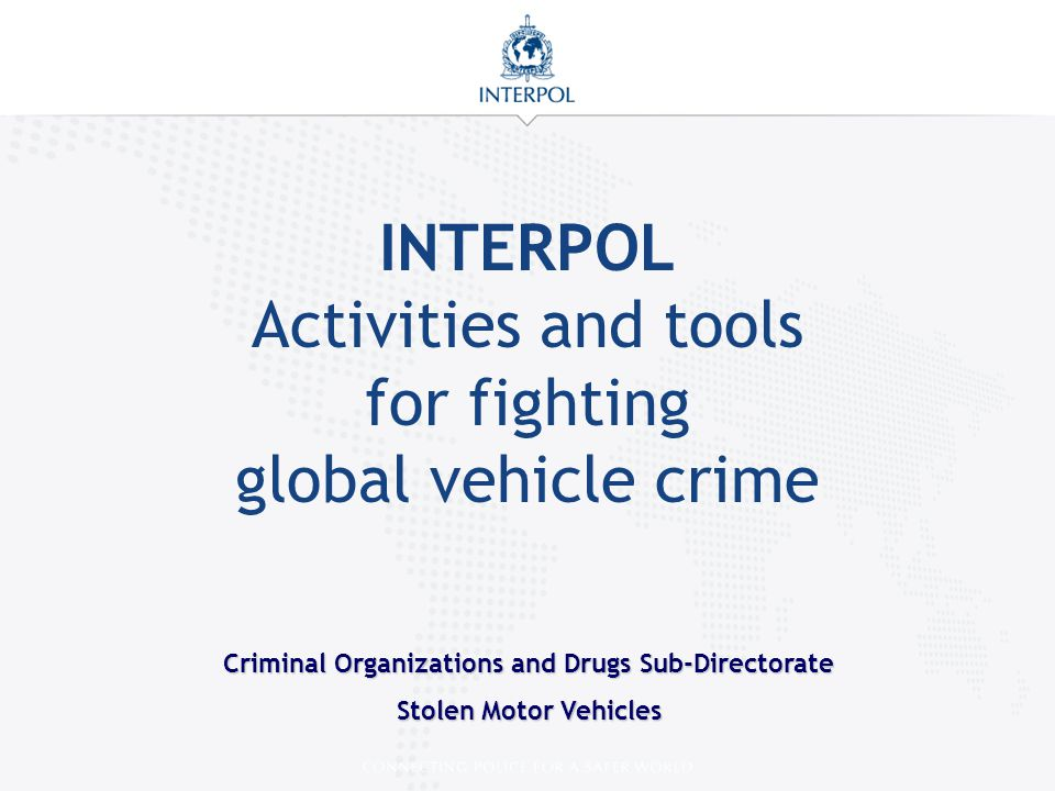 Criminal Organizations and Drugs Sub-Directorate