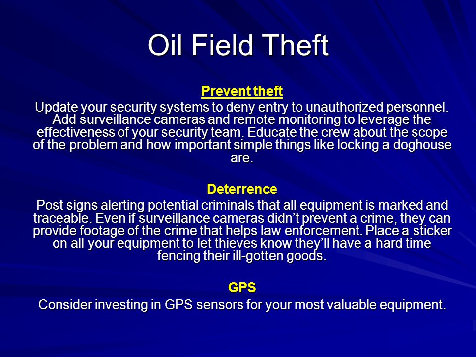 Consider investing in GPS sensors for your most valuable equipment.