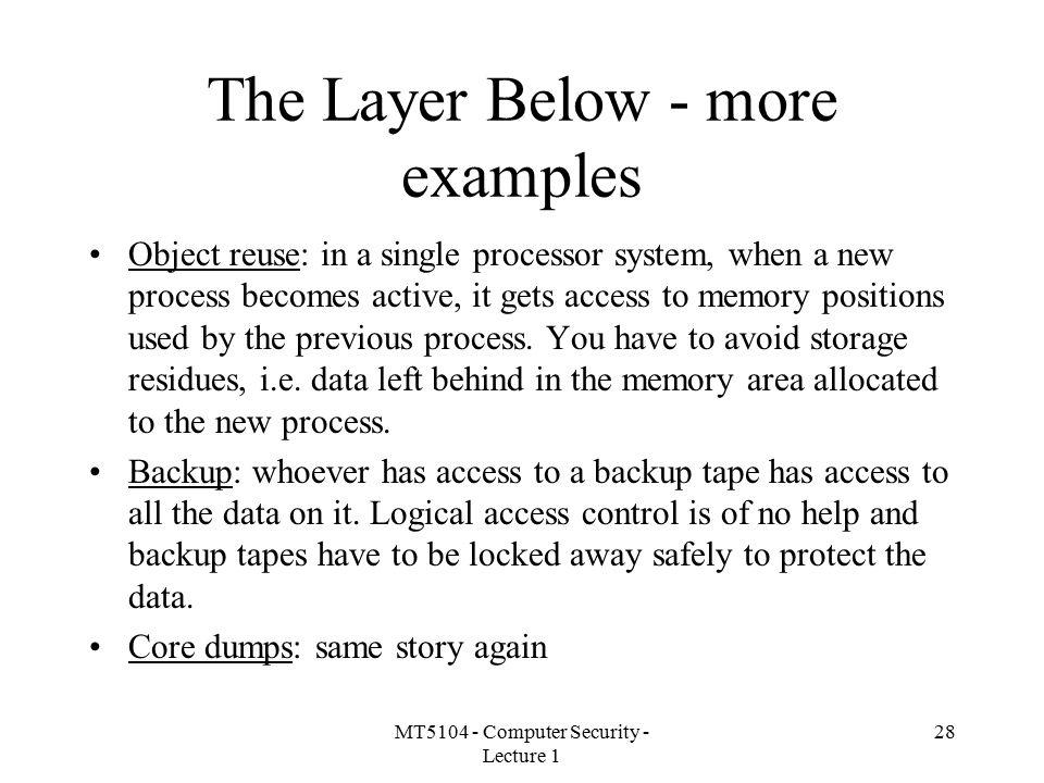 The Layer Below - more examples