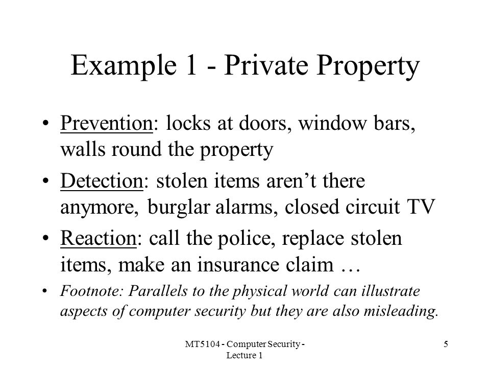 Example 1 - Private Property