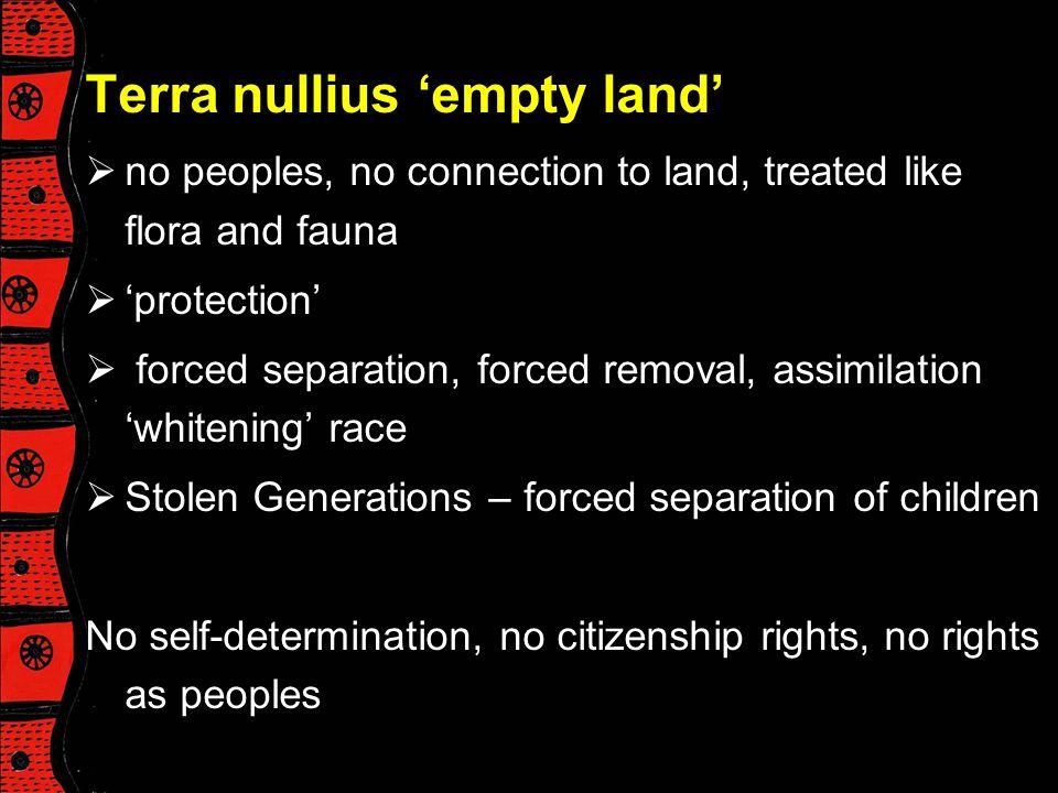Terra nullius 'empty land'