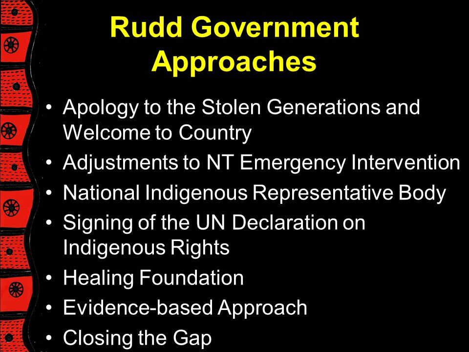 Rudd Government Approaches