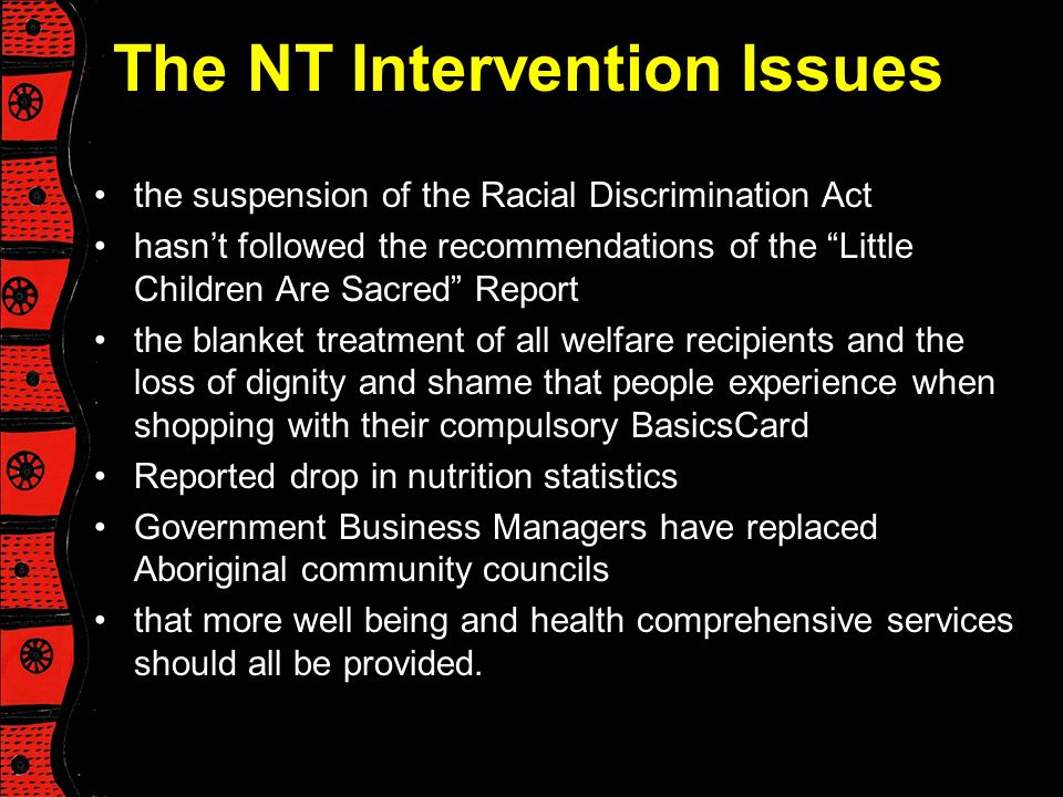 The NT Intervention Issues