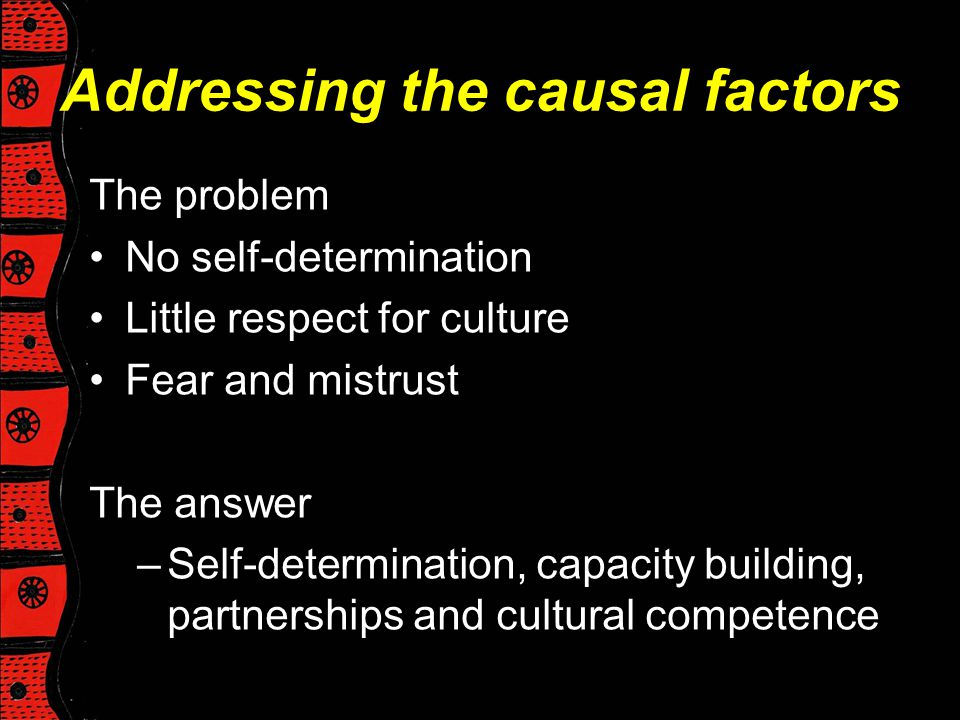 Addressing the causal factors