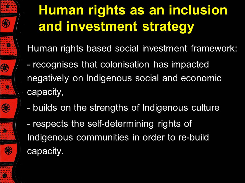 Human rights as an inclusion and investment strategy