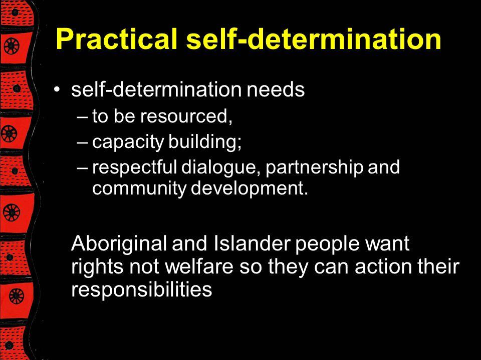 Practical self-determination