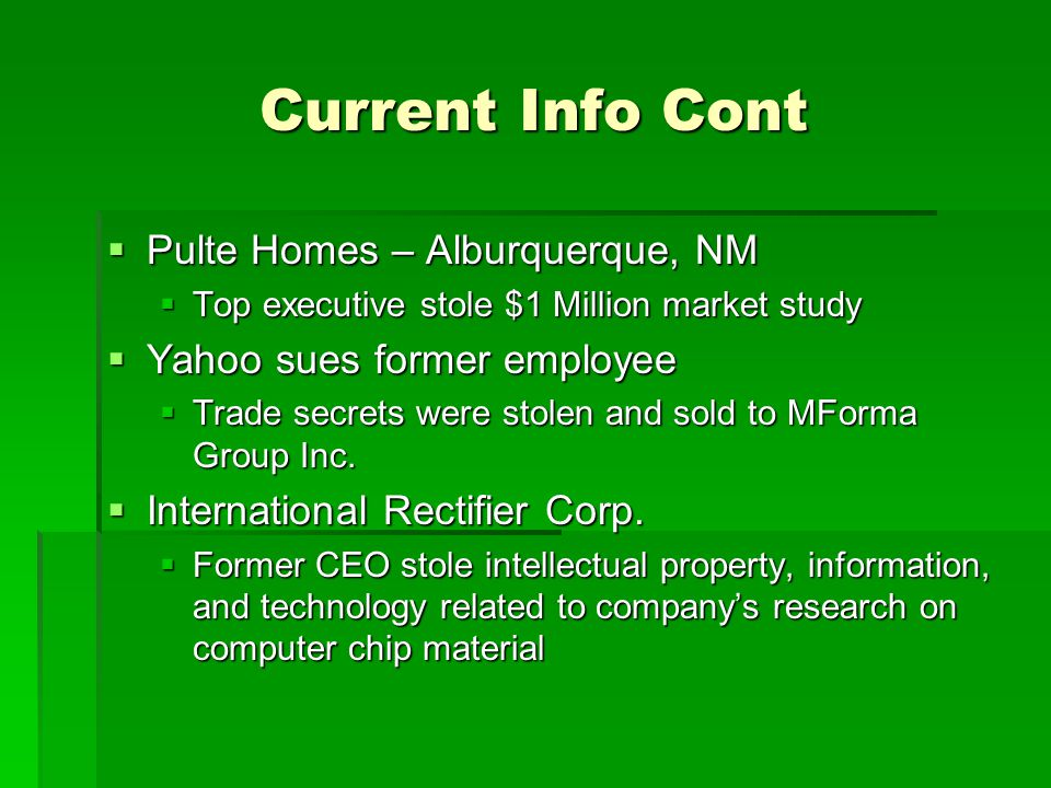 Current Info Cont Pulte Homes – Alburquerque, NM