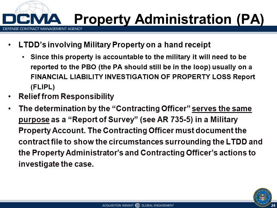 Property Administration (PA)