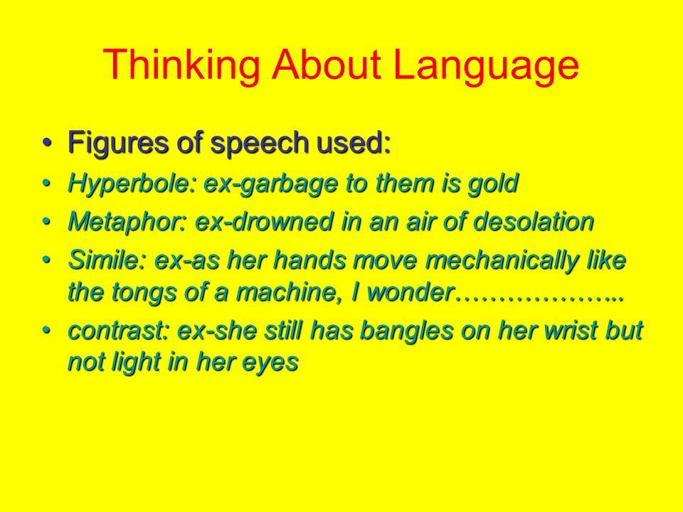 Thinking About Language