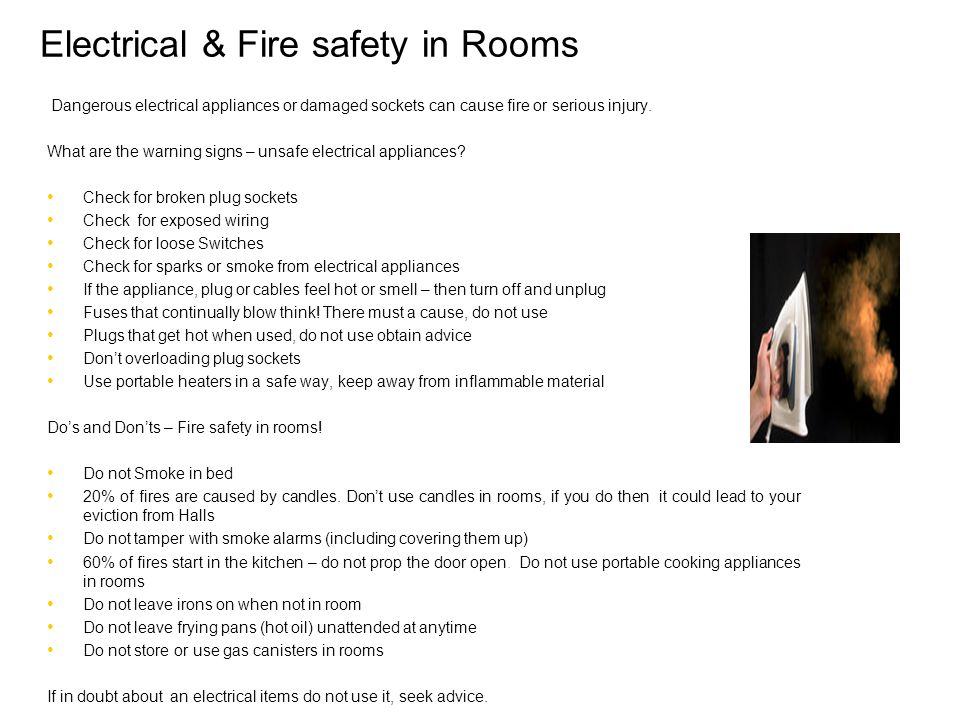 Electrical & Fire safety in Rooms
