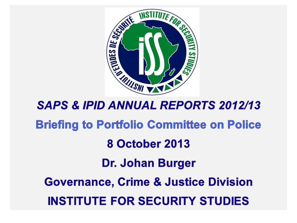SAPS & IPID Annual Reports 2012/13