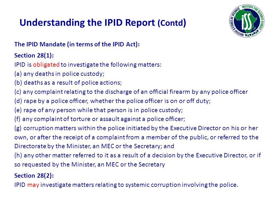 Understanding the IPID Report (Contd)
