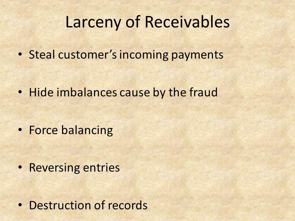 Larceny of Receivables