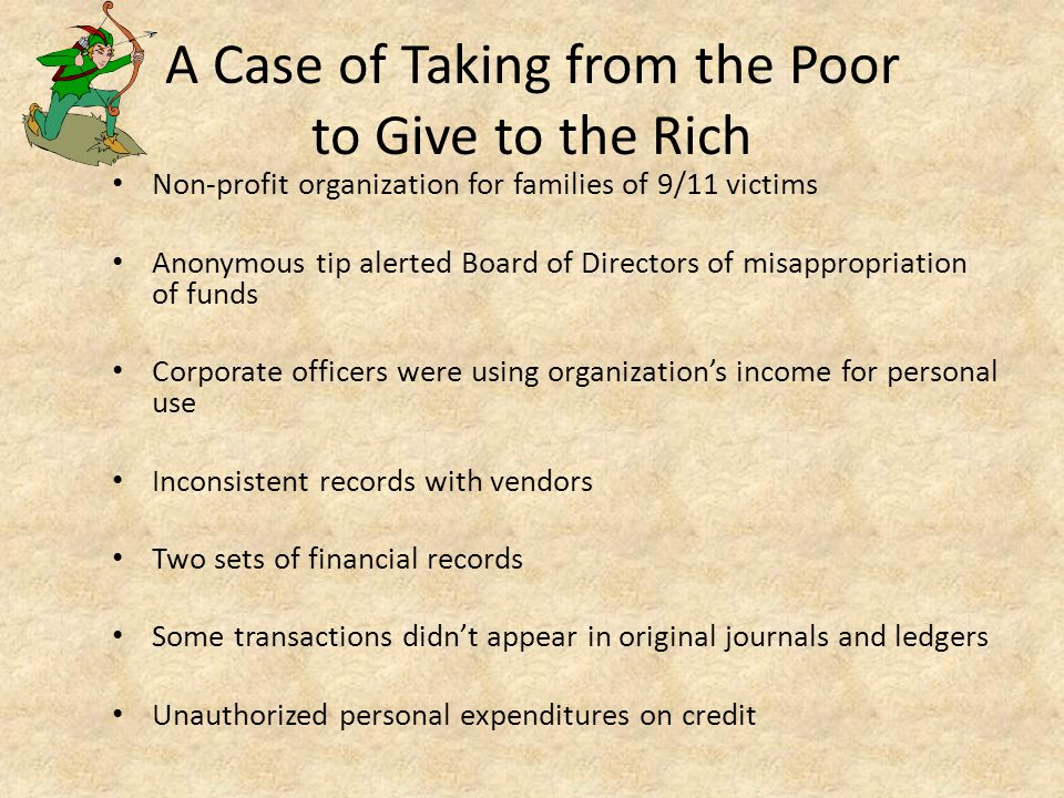 A Case of Taking from the Poor to Give to the Rich