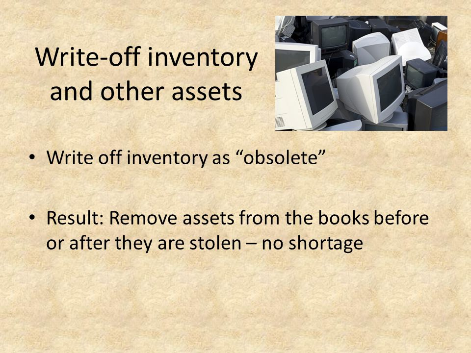 Write-off inventory and other assets