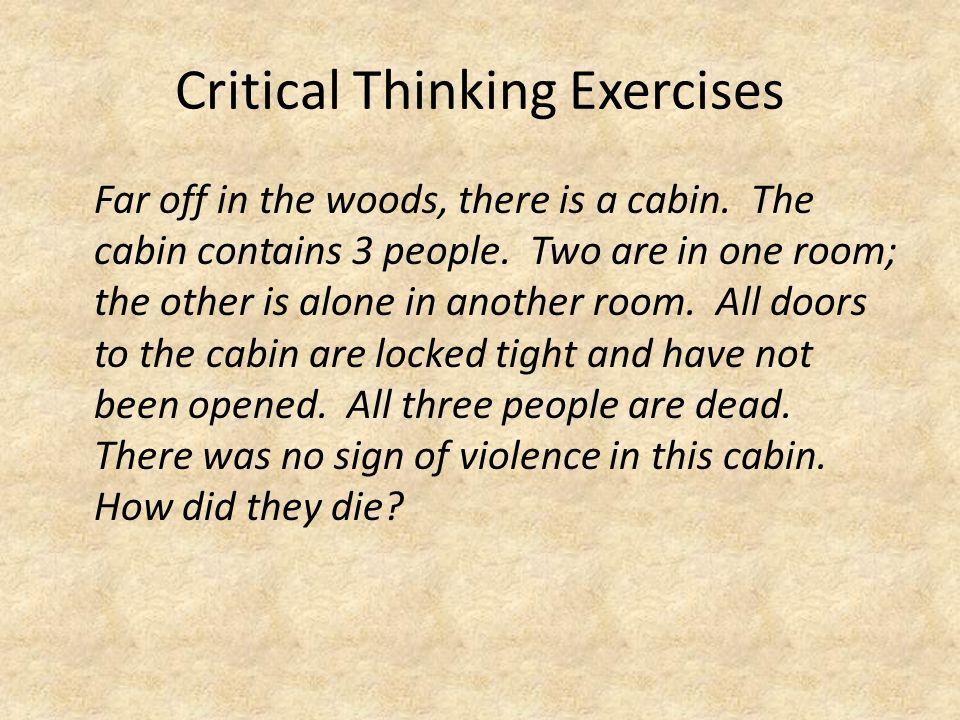 Critical Thinking Exercises