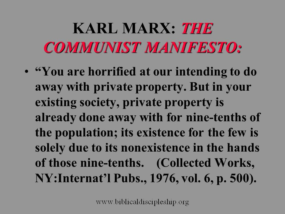 KARL MARX: THE COMMUNIST MANIFESTO: