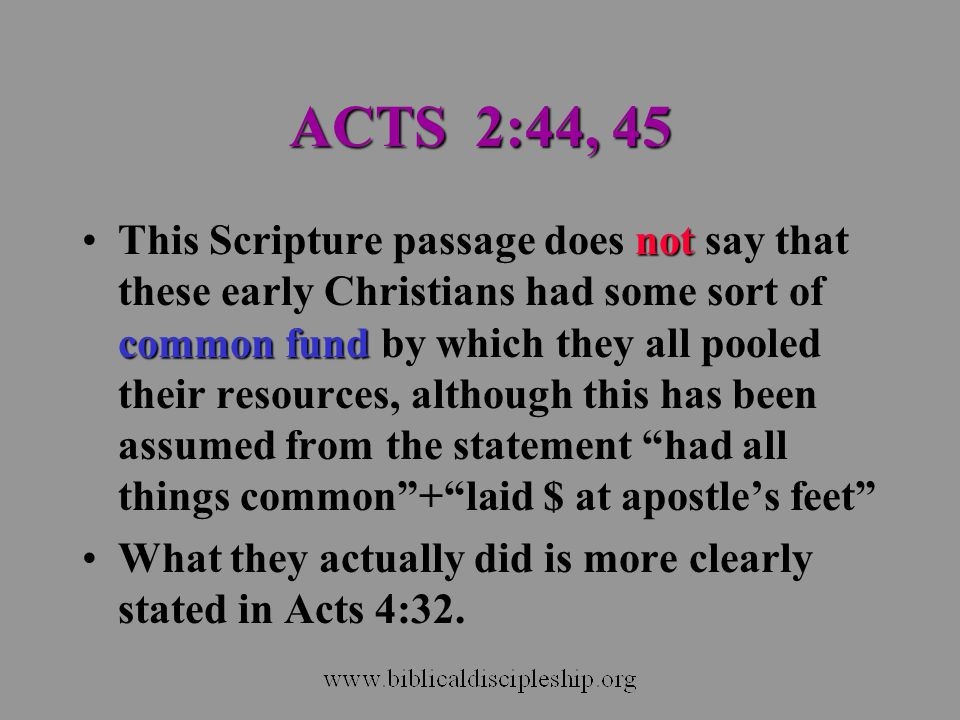 ACTS 2:44, 45