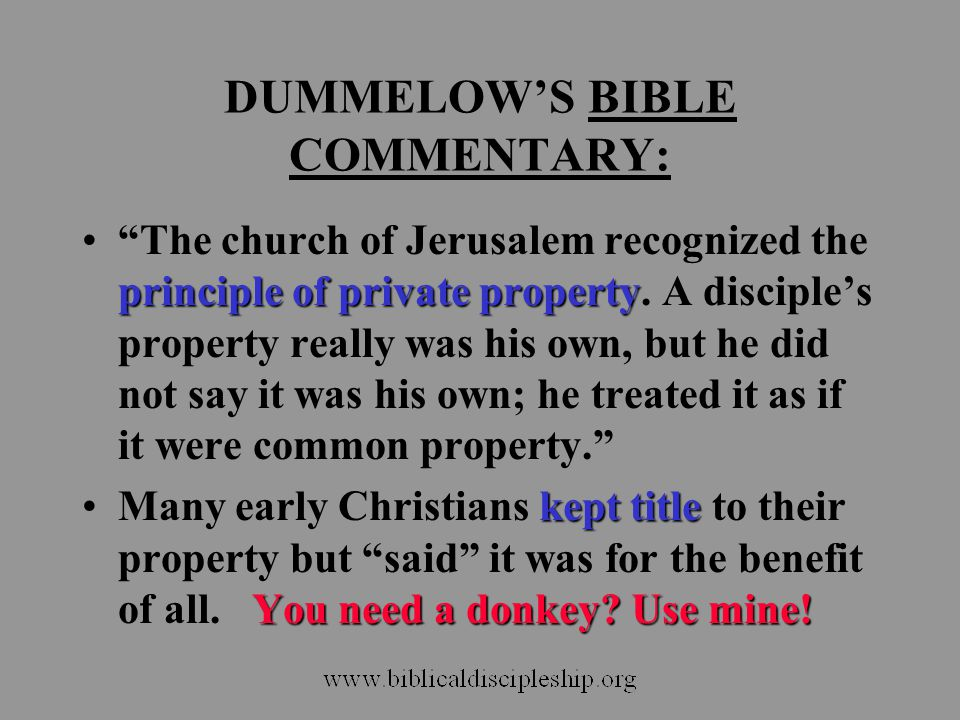 DUMMELOW'S BIBLE COMMENTARY: