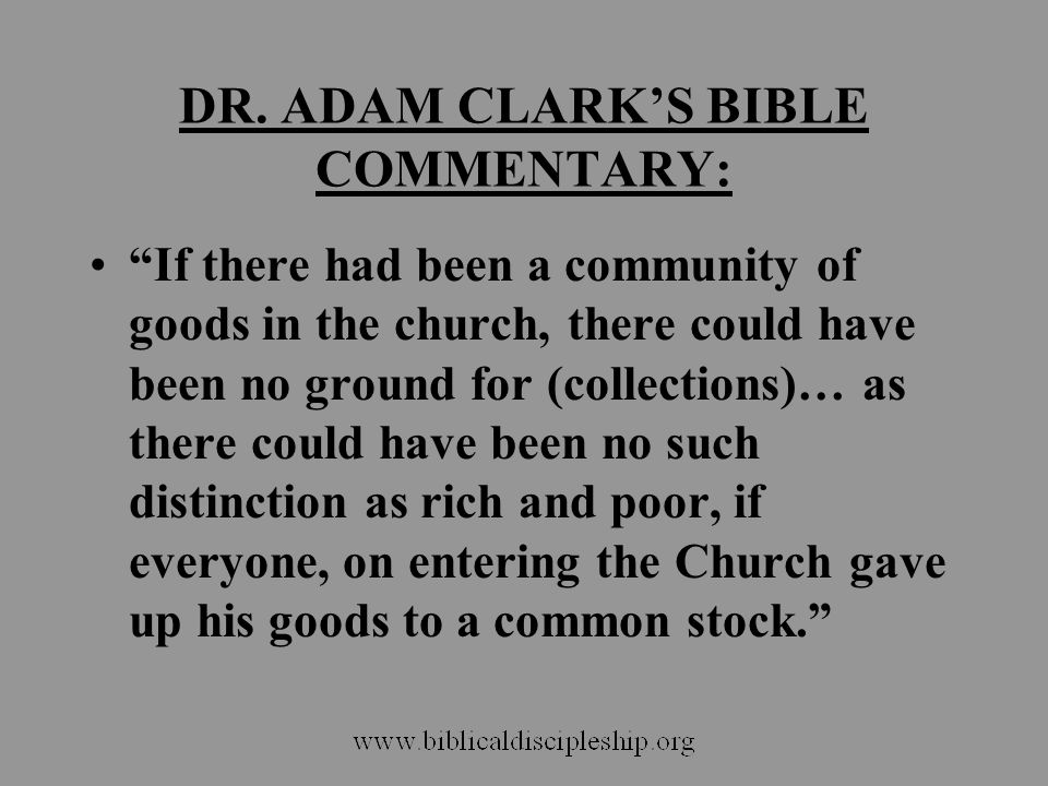 DR. ADAM CLARK'S BIBLE COMMENTARY: