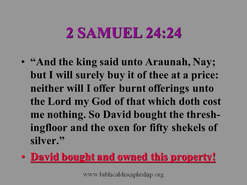 2 SAMUEL 24:24