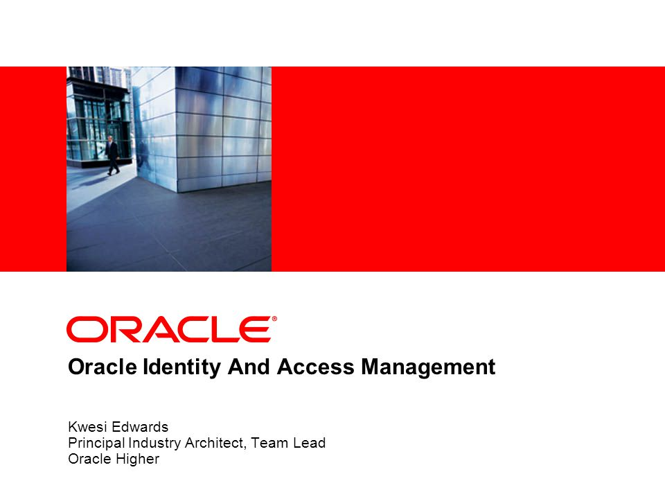 Oracle Identity And Access Management