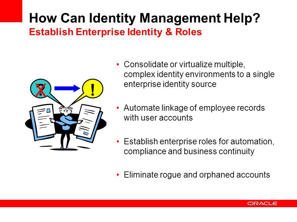 How Can Identity Management Help Establish Enterprise Identity & Roles