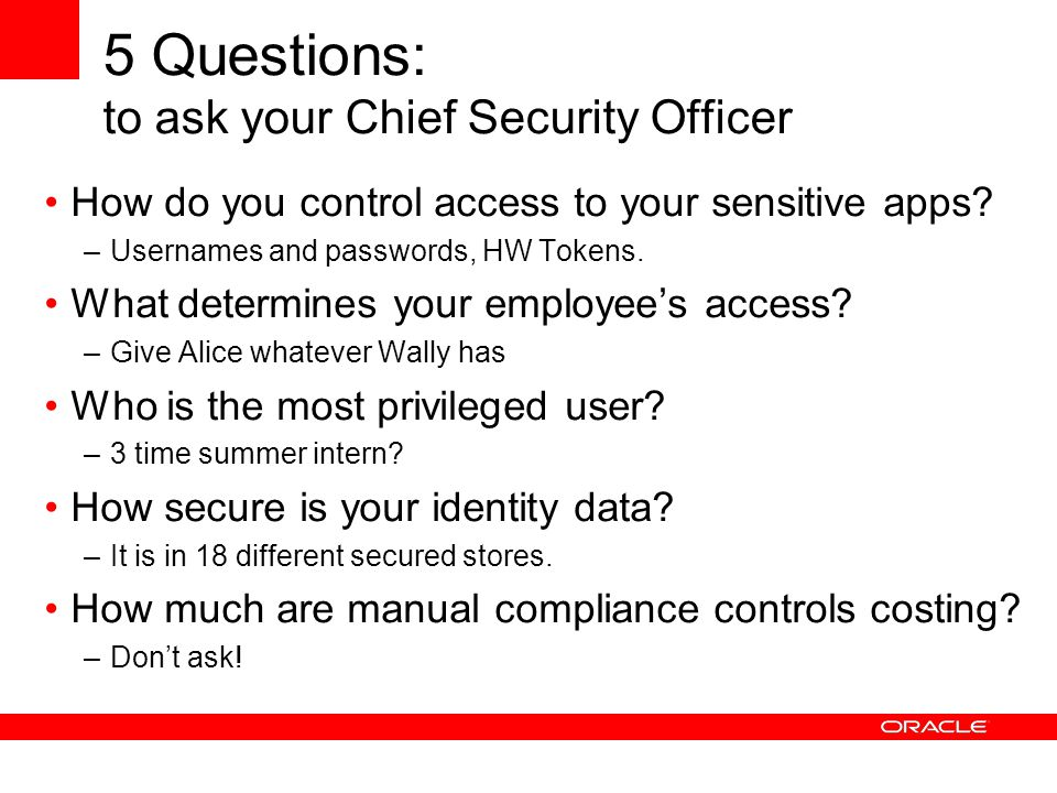 5 Questions: to ask your Chief Security Officer