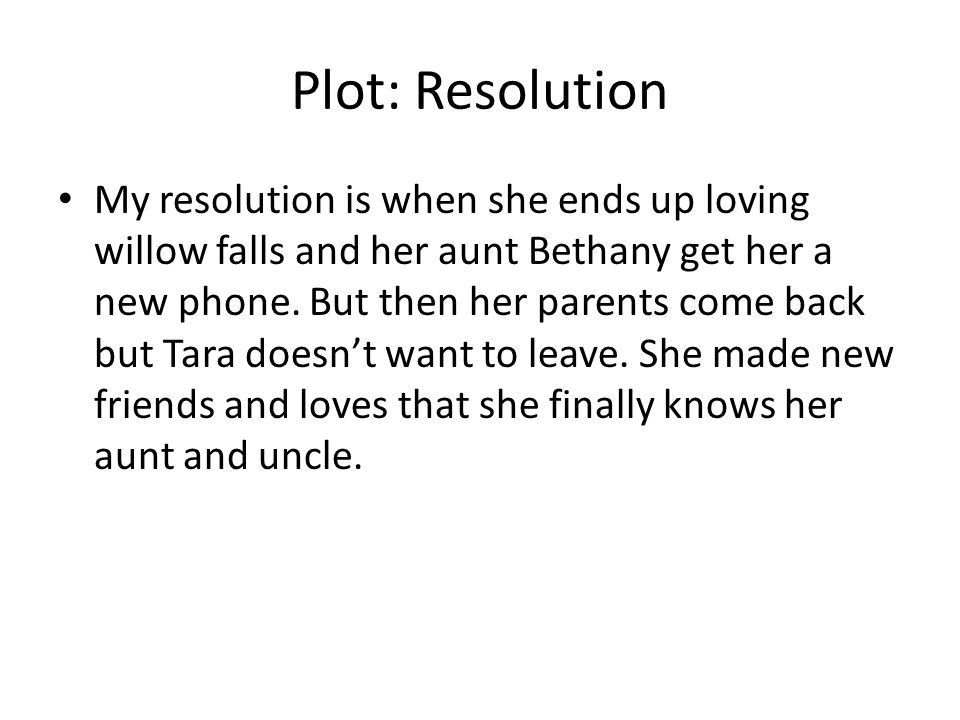 Plot: Resolution