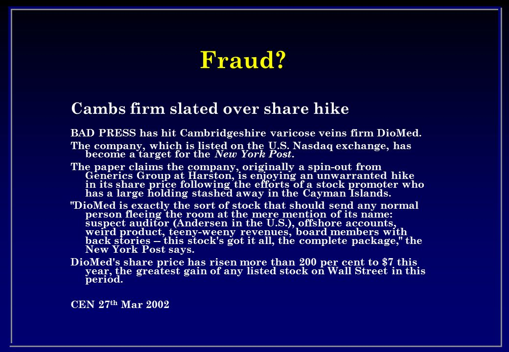 Fraud Cambs firm slated over share hike