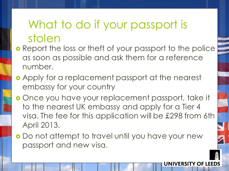What to do if your passport is stolen