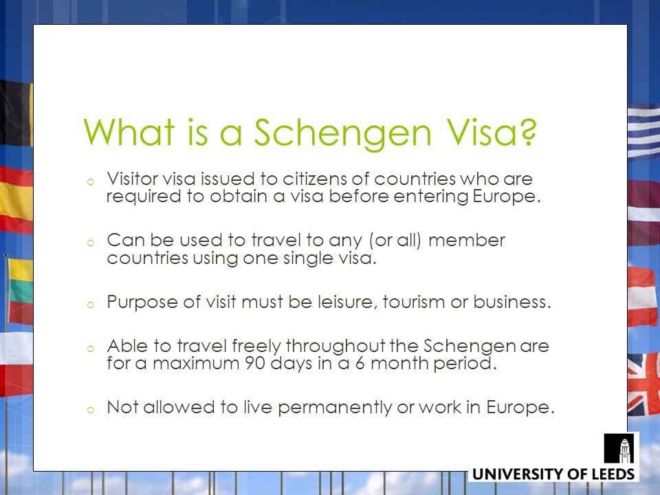 What is a Schengen Visa Visitor visa issued to citizens of countries who are required to obtain a visa before entering Europe.